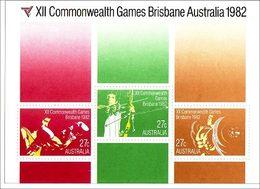 1982 - Australian COMMONWEALTH GAMES Minisheet Miniature Sheet MNH - Blocks & Sheetlets
