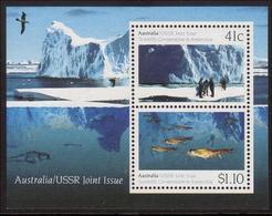 1990 - Australian USSR Joint Issue Minisheet Miniature Sheet MNH - Blocks & Sheetlets