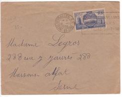 1F75 VISITE DES SOUVERAINS BRITANNIQUES Flamme Correspondante Et Date Visite Versailles 21 VII 1938 ! - Brieven En Documenten
