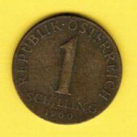 AUSTRIA   1 SCHILLING 1960 (KM # 2886) #5165 - Austria