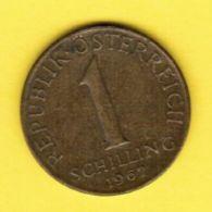 AUSTRIA   1 SCHILLING 1967 (KM # 2886) #5173 - Austria