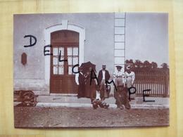 28 LA BAZOCHE GOUET 1899 LA GARE - TIRAGE ALBUMINE - Autres Communes