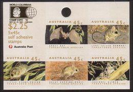 1992 - Australian THREATENED SPECIES Minisheet Miniature Sheet MNH Overprint COLUMBIAN - Blocks & Sheetlets