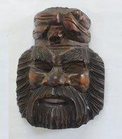 "Japanese Wooden Head "" Dutchman "" - Asian Art"