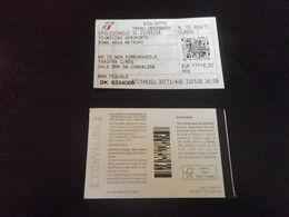 Ticket ROME - AEROPORT FIUMICINO - X2 Aller Retour - Spoorwegen