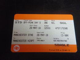 Ticket Manchester Aéroport - Chemins De Fer