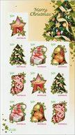 2009 - Australian MERRY CHRISTMAS XMAS 10*50c DL Self Adhesive Sheetlet Stamps MNH - Blocks & Sheetlets