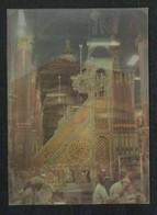 Saudi Arabia 3 D Double Picture Postcard Holy Mosque Ka'aba Mecca Islamic Islam Plastic View Card - Arabie Saoudite