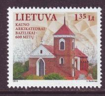 Litauen 2013. Kathedrel Of Kaunas. 1 W. MNH. - Lithuania