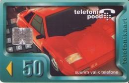 TARJETA TELEFONICA DE ESTONIA, TIRADA 50000 (055)  COCHES - Estonia