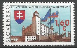SK 2018-651 The 25th Anniversary Of The Establishment Of The Slovak Republic  SLOVAKIA, 1 X 1v, MNH - Ungebraucht