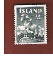 ISLANDA (ICELAND)  -  SG 355 - 1958  PONY  -   USED - Usati