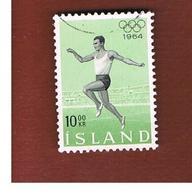 ISLANDA (ICELAND)  -  SG 418 - 1964 OLYMPIC GAMES                                 -   USED - 1944-... Republik