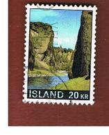 ISLANDA (ICELAND)  -  SG 468 - 1970 LANDSCAPE                                 -   USED - 1944-... Repubblica
