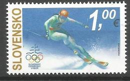 SK 2018-653 The XXIII Winter Olympic Games In PyeongChang   SLOVAKIA, 1 X 1v, MNH - Slowakische Republik