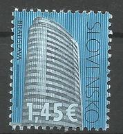 SK 2018-654 Cultural Heritage Of Slovakia: VÚB Mlynské Nivy, Bratislava  SLOVAKIA, 1 X 1v, MNH - Slowakische Republik