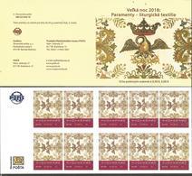 SK 2018-656 Easter 2018: Paraments – Liturgical Textiles  SLOVAKIA, BOOKLET, MNH - Slowakische Republik