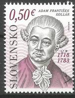 SK 2018-657 Personalities: Adam František Kollár (1718 – 1783)   SLOVAKIA, 1 X 1v, MNH - Ungebraucht