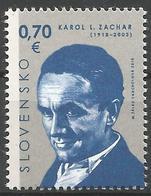 SK 2018-658 Personalities: Karol L. Zachar (1918 – 2003)  SLOVAKIA, 1 X 1v, MNH - Ungebraucht