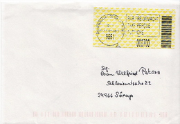 Postal History: Austria Cover With Machine Stamp - ATM - Frama (vignette)