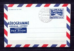 9641 Island, Luftpost, Aerogramm, Ganzsache LF 8, Ersttagsstempel - Entiers Postaux