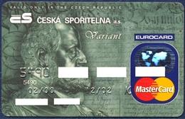 CZECH REPUBLIC CESKA SPORITELNA MASTERCARD BANK CARD VERY GOOD USED CONDITION - Geldkarten (Ablauf Min. 10 Jahre)