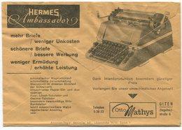 1836 - HERMES Ambassador, Postcheckamt-Umschlag P 5605.-G.IV.48. - Service