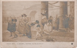 Künstlerkarte AK Salon De 1909 E. Vassari Entrée Du Gladiateur Exposition Paris France - Künstlerkarten