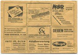 1837 - Mehrfachwerbung - Postcheckamt-Umschlag P 5605.-B.XI.53. - Schweiz