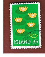 ISLANDA (ICELAND)  -  SG 551 - 1977  NATURE PROTECTION                        -   USED - 1944-... Repubblica