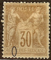SUPERBE SAGE N°80 30c Brun N/U NEUF Avec GOMME* Cote 130 Euro PAS D'AMINCI - 1876-1898 Sage (Type II)
