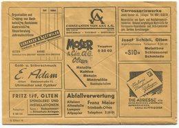 1838 - Mehrfachwerbung - Postcheckamt-Umschlag P 5605.-G.X.54. - Suisse