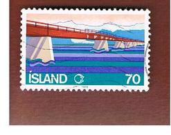 ISLANDA (ICELAND)  -  SG 565 - 1978  SKEIDARA BRIDGE                       -   USED - 1944-... Repubblica