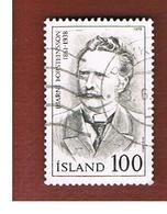 ISLANDA (ICELAND)  -  SG 573 - 1979  FAMOUS ICELANDER                      -   USED - 1944-... Repubblica