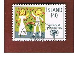 ISLANDA (ICELAND)  -  SG 577 - 1979  YEAR OF THE CHILD                     -   USED - 1944-... Repubblica