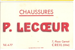 Buvard P Lecoeur 7 Place Carnot Creil 60 Oise - Shoes
