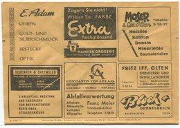 1840 - Mehrfachwerbung - Postcheckamt-Umschlag P 5605.-G.IV.48. - Suisse