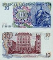 SWEDEN       10 Kronor      Comm.     P-56a       1968       UNC - Svezia