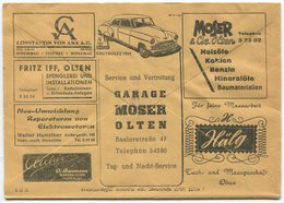 1841 - Mehrfachwerbung - Postcheckamt-Umschlag P 5605.-G.IV.48. - Dienstpost
