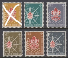 Indonesia 1959 10th World Scout Jamboree Organizations Scouting Youth Stamps MNH Mi 243-248 (one Missing) - Indonesia