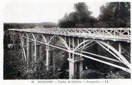 Guingamp (22) - Viaduc De Cadolan - Perspective - Be- Non Voyagée  - N&B - Guingamp