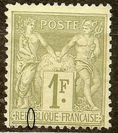SUPERBE SAGE N°82 1F Olive N/U NEUF Avec GOMME* Cote 225 Euro PAS D'AMINCI - 1876-1898 Sage (Type II)