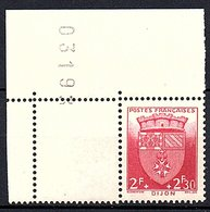 """ARMOIRIES - 1942: 2F+2,30F  """"Dijon""""  N° 559** - Unused Stamps"""