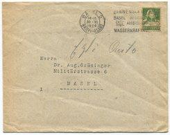 1844 - PERFIN + (Kreuz) Auf Umschlag Von BASEL - Briefe U. Dokumente