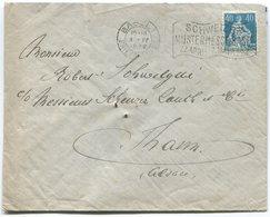 1845 - PERFIN C Auf Auslandbeleg Von BASEL - Lettres & Documents