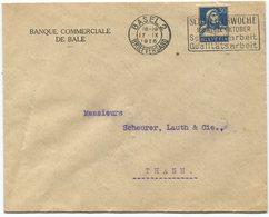 1846 - PERFIN C Auf Firmenumschlag Von BASEL - Lettres & Documents