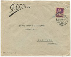 1847 - PERFIN DECO Auf Firmenbrief Von KÜSNACHT - Briefe U. Dokumente