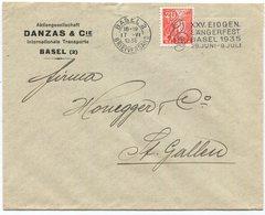 1848 - PERFIN DC Auf Firmenumschlag Von BASEL - Lettres & Documents