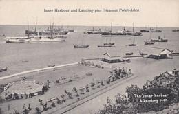 Yemen Inner Harbour And Landing Pier Steamer Point Aden - Yémen