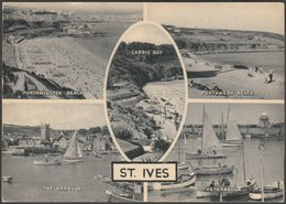 Multiview, St Ives, Cornwall, C.1950s - Photochrom Postcard - St.Ives